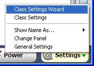 Class Setting Wizard